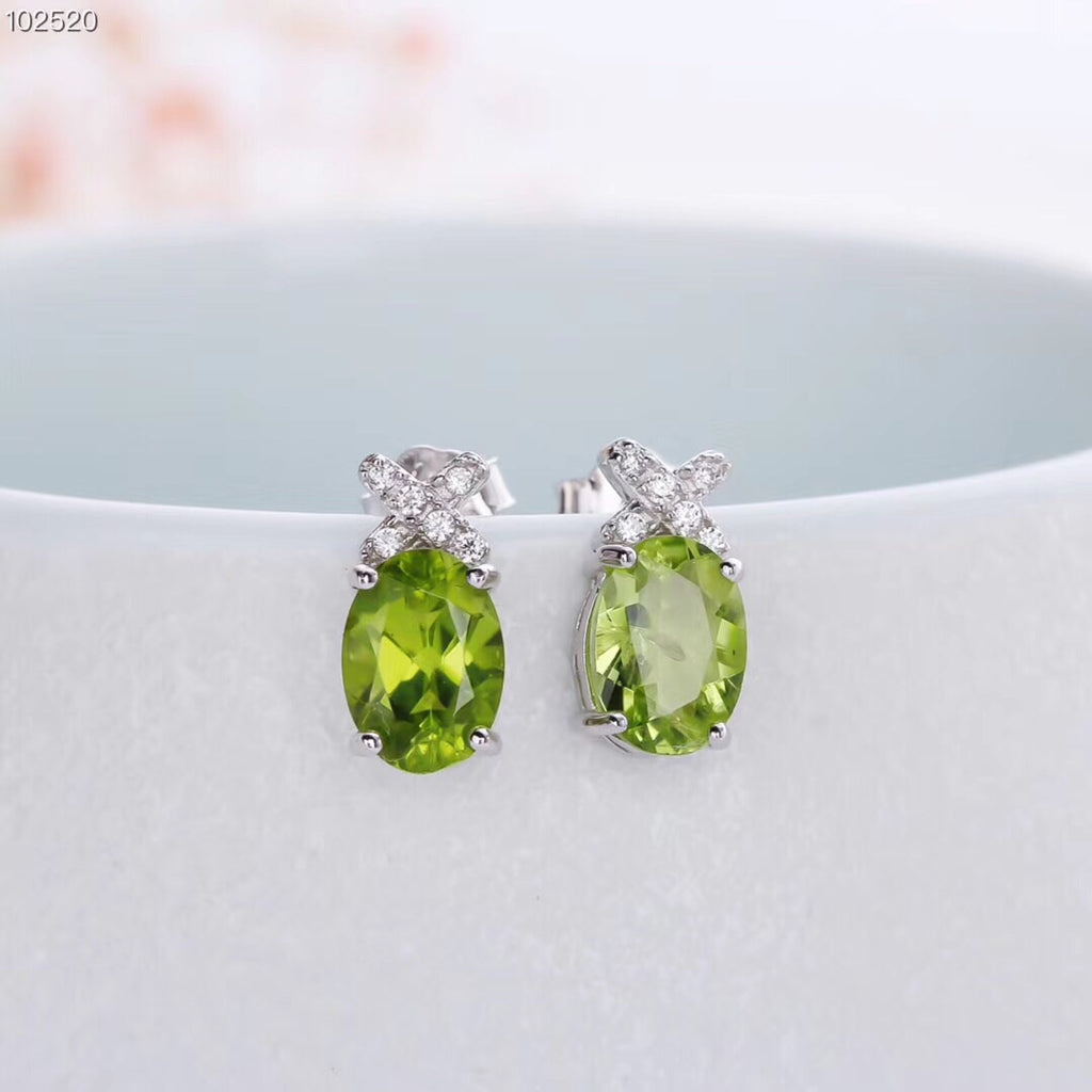 925 sterling silver Oliver stone ring earring necklace set - Xingjewelry