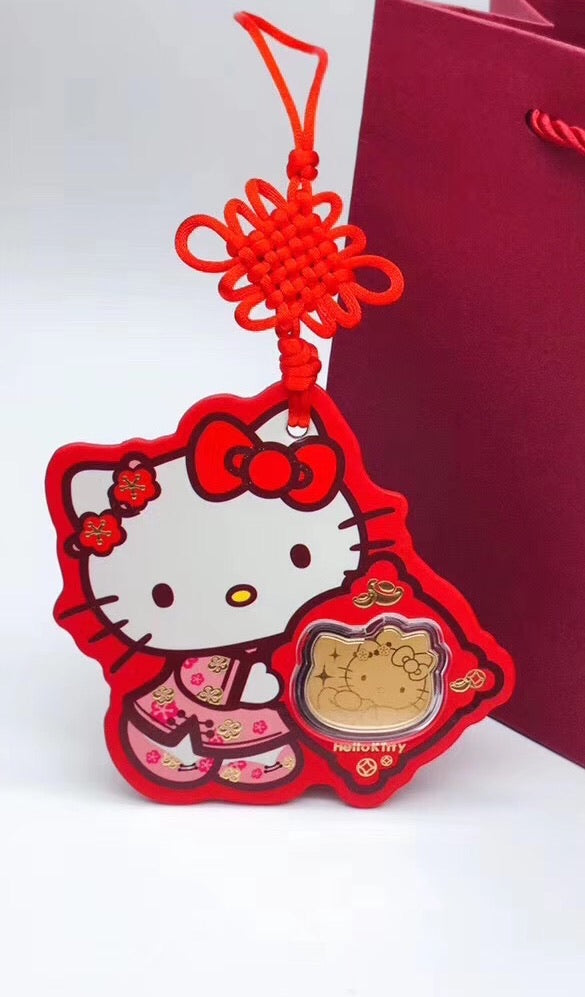 Hello kitty pink tag hellokitty pendant necklace