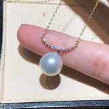 18k gold sapphire pearl necklace