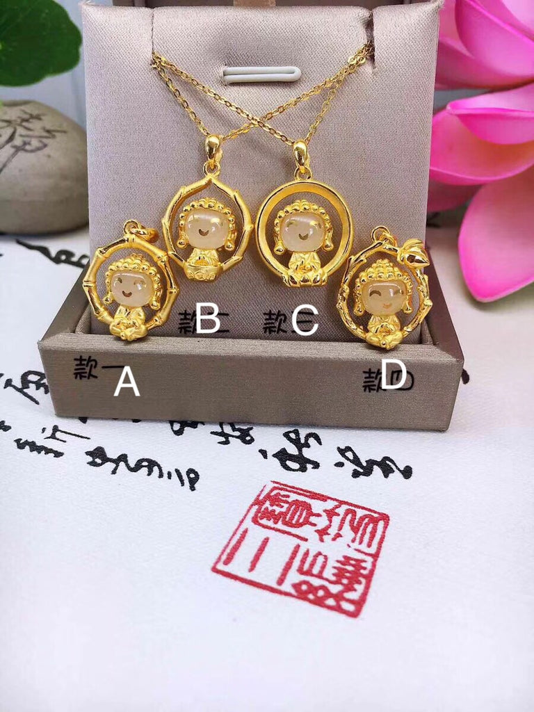 solid gold cute Buddha in 4 style