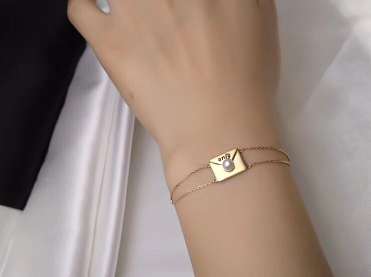 18k gold envelope love charm - Xingjewelry