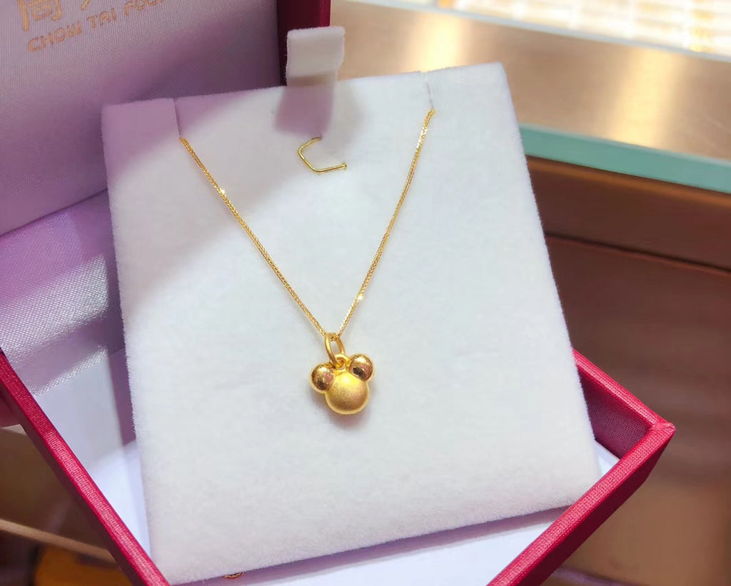18k gold Mickey Mouse pendant