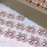 White akoya pearl 7-7.5 mm bead wholesale 2pcs