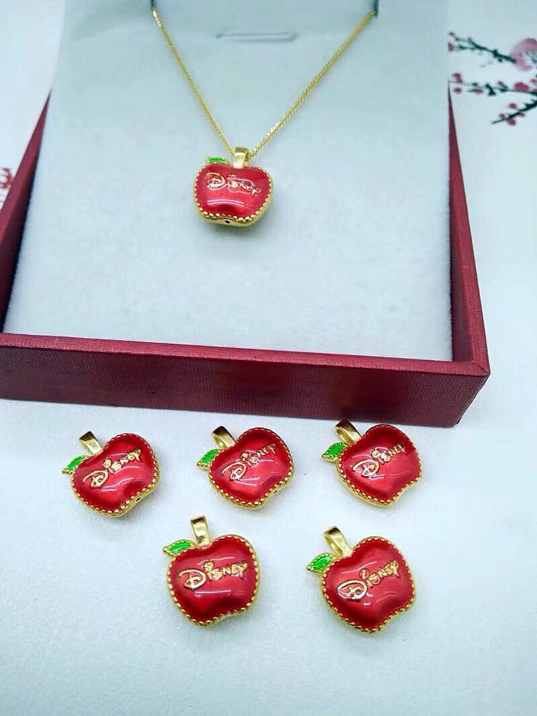 18k gold red apple pendant necklace - Xingjewelry