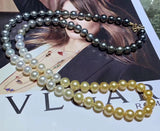 18k gold South sea pearl beads necklace