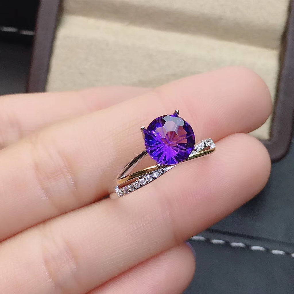 Sterling silver purple ring