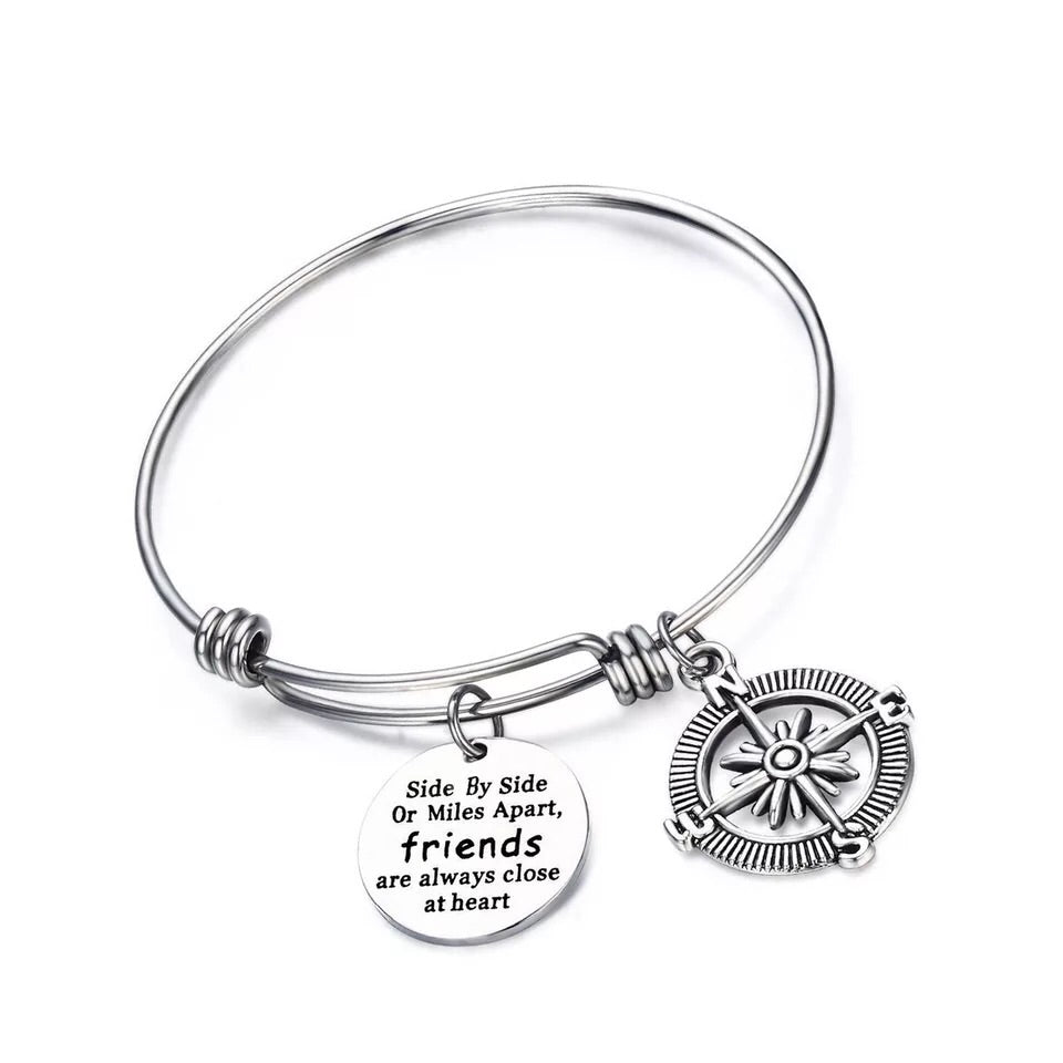 Best friends Push bangle bracelet - Xingjewelry