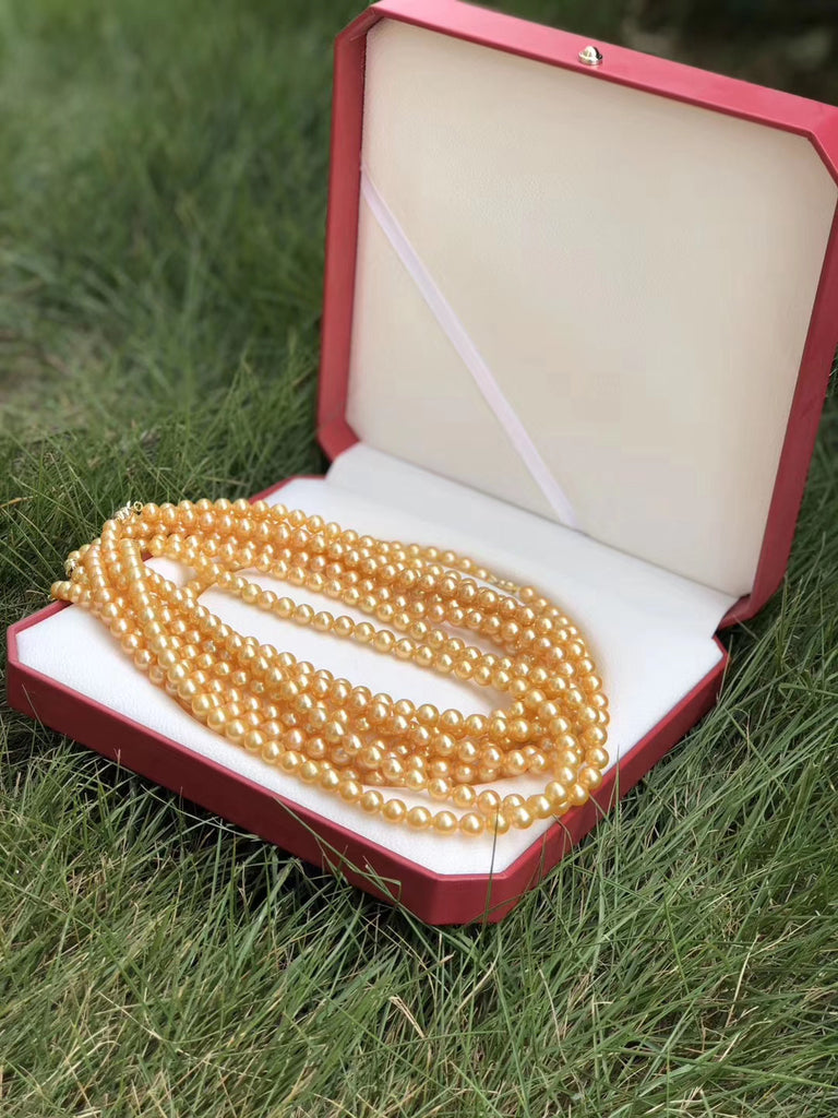Southern sea gold pearl necklace