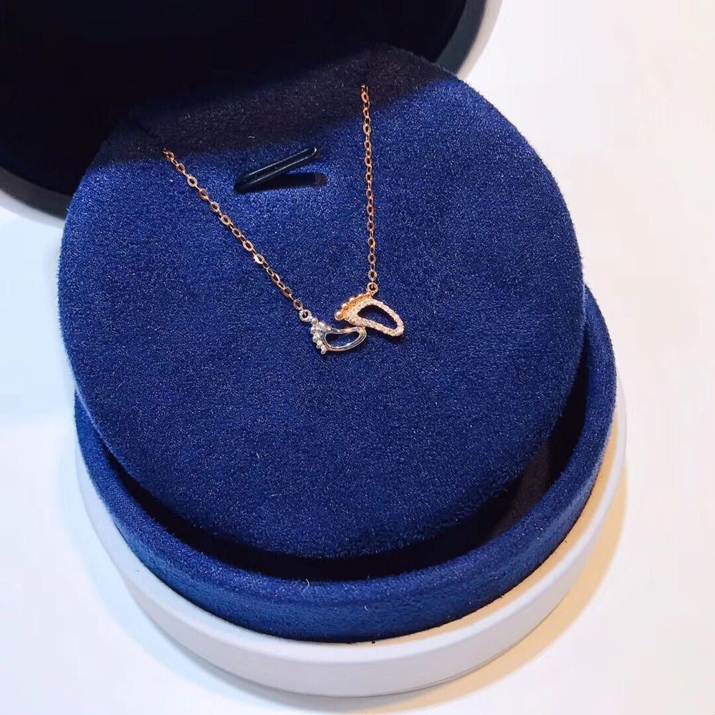 18k gold footprint necklace - Xingjewelry