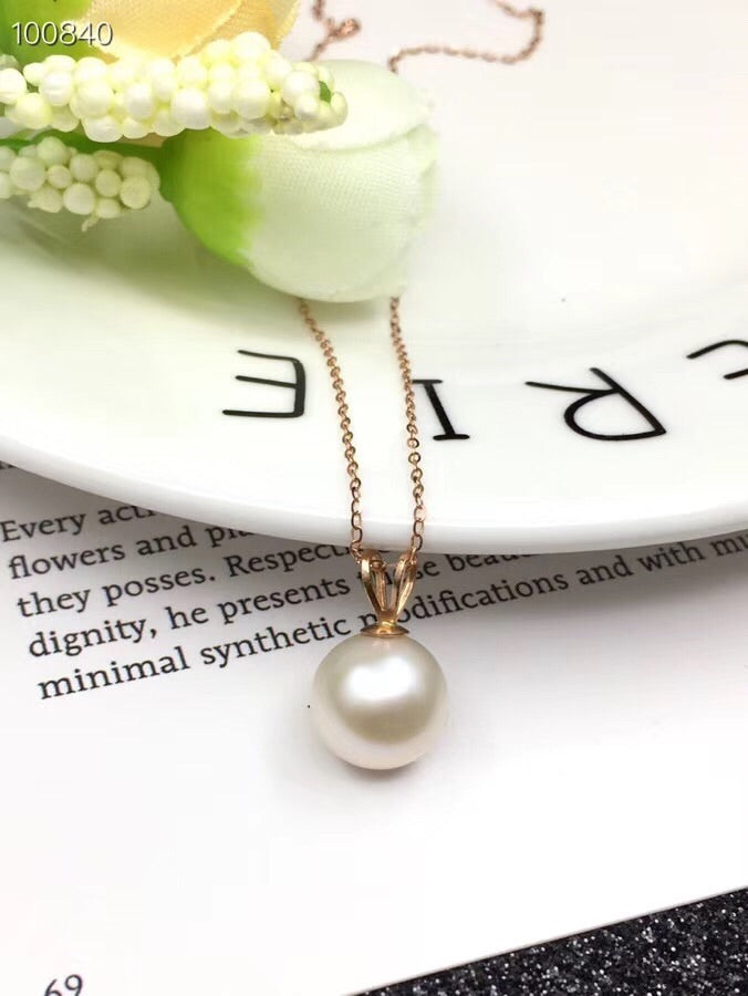 18k gold pearl pendant necklace - Xingjewelry