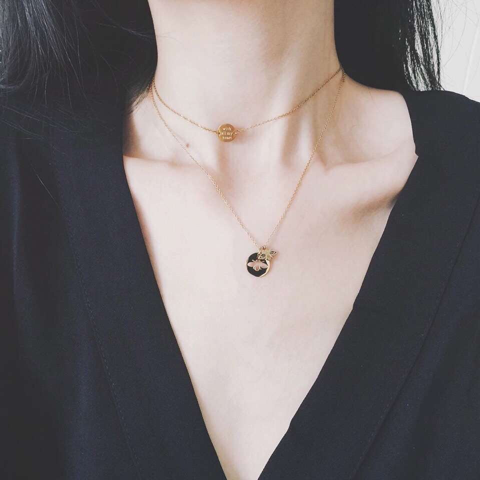 18k gold with all my heart pendant necklace - Xingjewelry