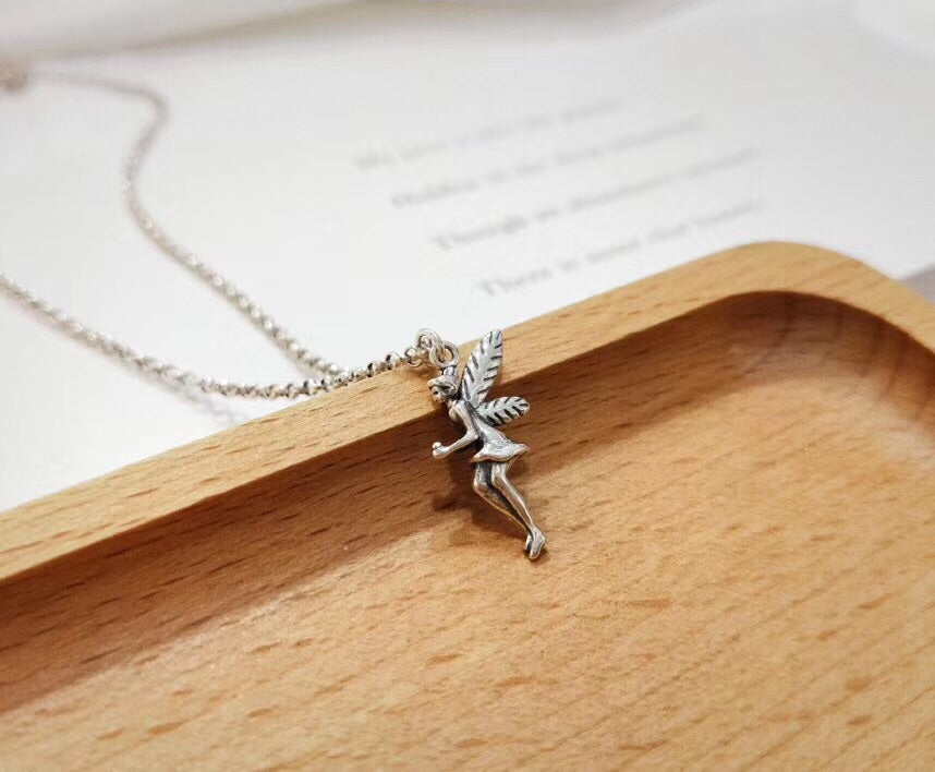 Sterling silver spirit pendant necklace