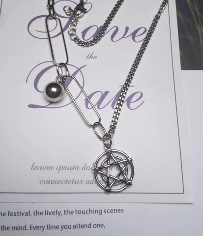 925 sterling silver six horns Star of David necklace