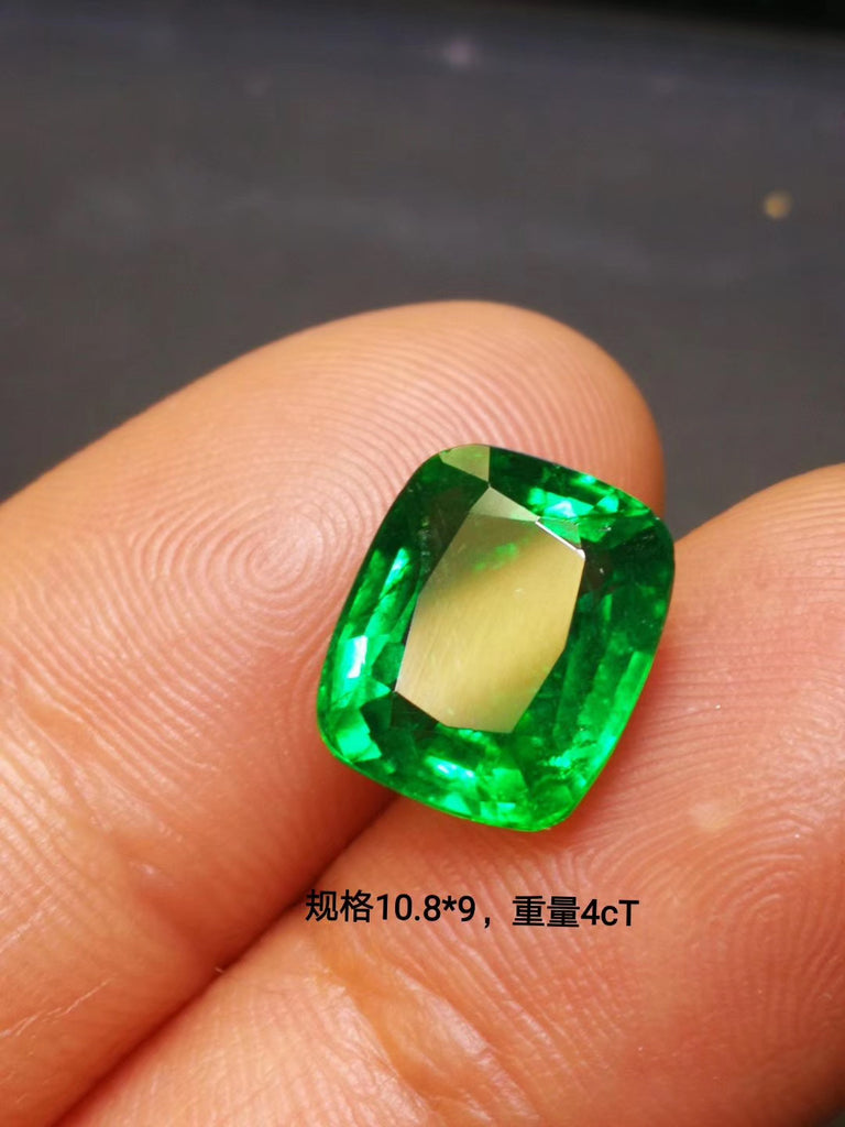 Natural emerald green 天然祖母绿 gemstone for necklace bracelet