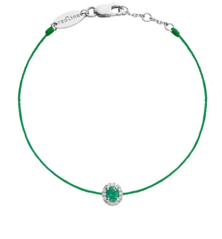 Royal design Emerald rope charm bracelet