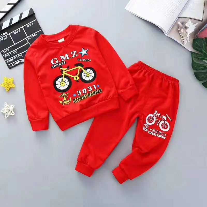 Autumn children long sleeve trousers set MOQ 30sets
