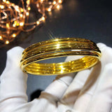 18K Solid Gold Bangle Bracelet - Xingjewelry