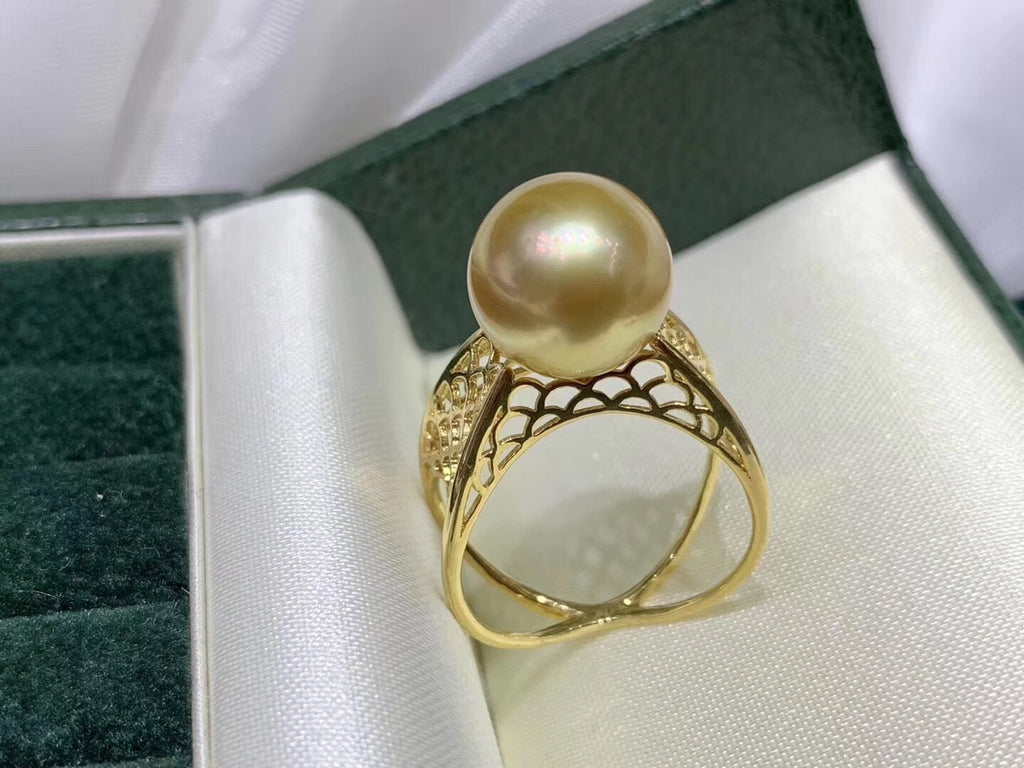 18k gold pearl ring luxury edition - Xingjewelry