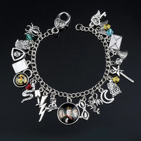 Alloy metal Harry Potter magic charm bracelet - Xingjewelry