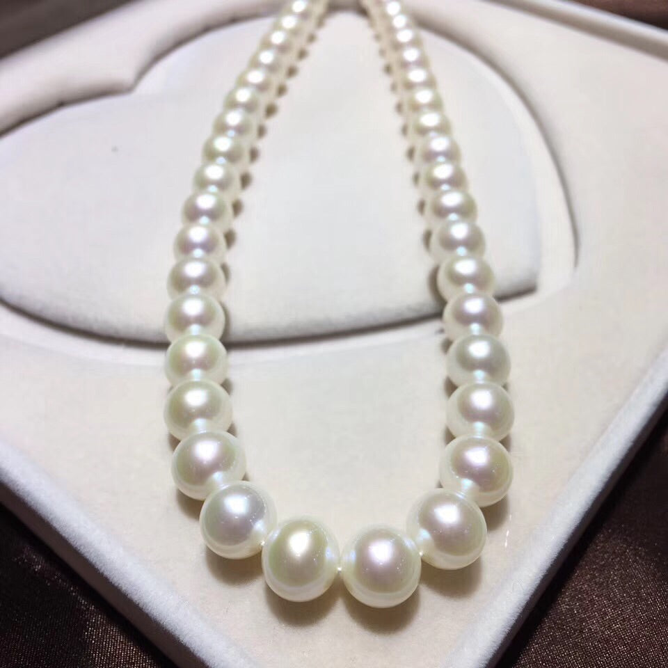 18k gold top class fresh water pearl necklace - Xingjewelry