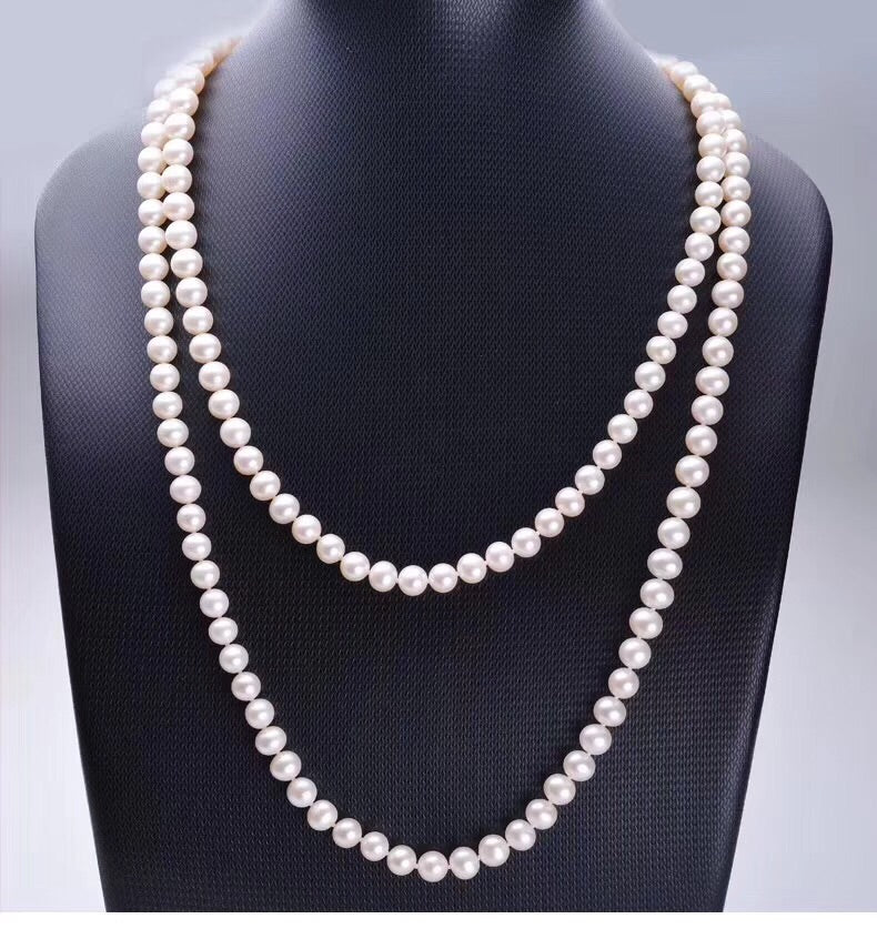 Fresh water pearl white bead necklace