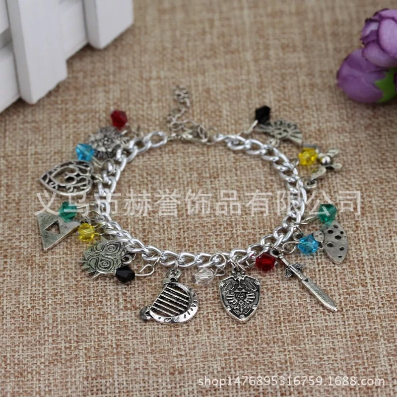 Alloy metal legend of Zelda charm bracelet - Xingjewelry