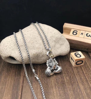 Sterling silver 蝎子scorpion pendant necklace