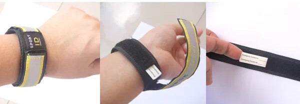 Reflective road ID safety ID wrist band sport safety ID - Xingjewelry