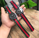 Gucci man nylon belt watch
