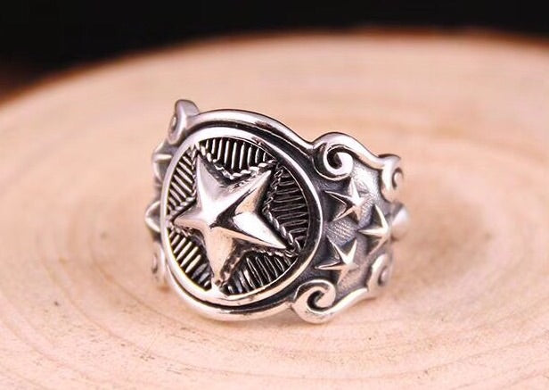 VINTAGE STAR SILVER RING