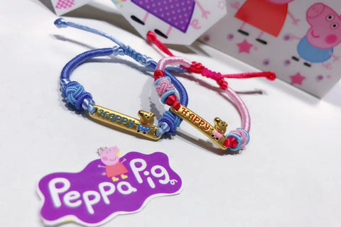 PEPPA PIG 18K GOLD HAPPY BRACELET FOR GIRL