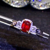 18k gold elegant ruby diamond ring - Xingjewelry