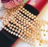 Fresh water pearl gold bead bracelet