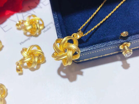 18k gold flower pendant necklace - Xingjewelry