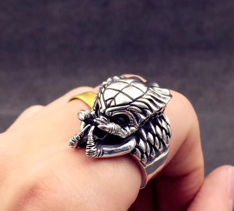 PREDATOR WARRIOR SILVER RING