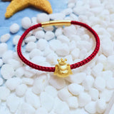 18k gold dog bracelet new year gift