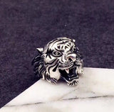 925 sterling Silver tiger ring - Xingjewelry
