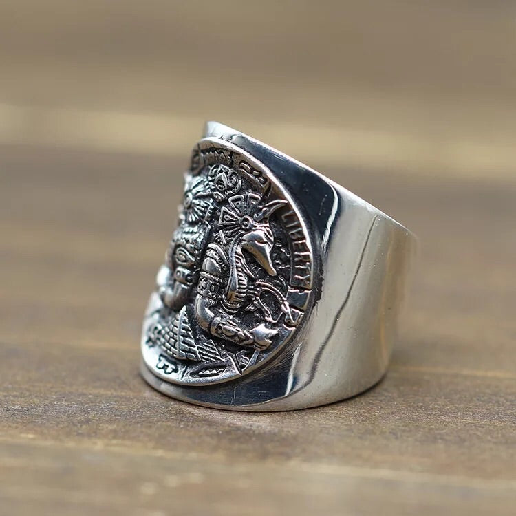 Anubis Horus silver ring | Xingjewelry