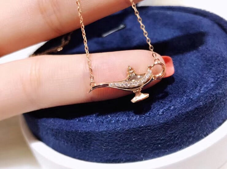 18k gold Aladdin pendant necklace - Xingjewelry