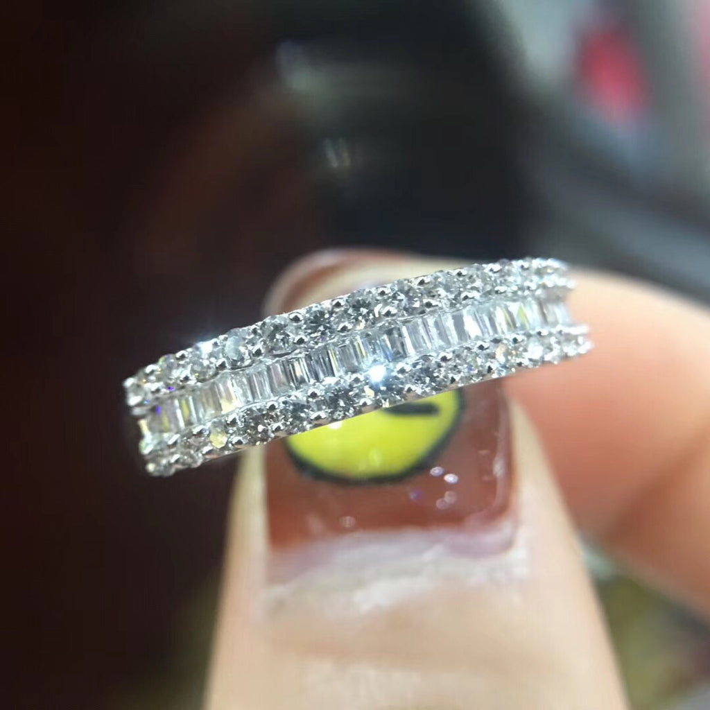 18k Platinum Diamond Ring - Xingjewelry