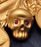 Solid gold skull head pendant