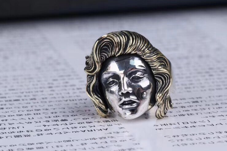 925 silver fashion girl open ring Marilyn Monroe ring - Xingjewelry