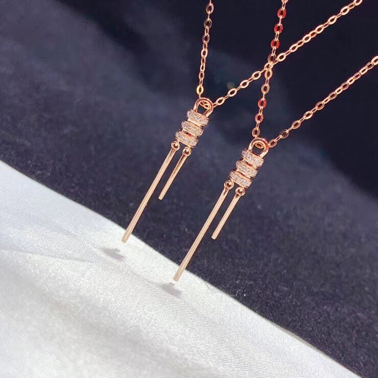 18k rose gold pendant necklace - Xingjewelry