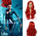 Aquaman mera red wig good quality - Xingjewelry