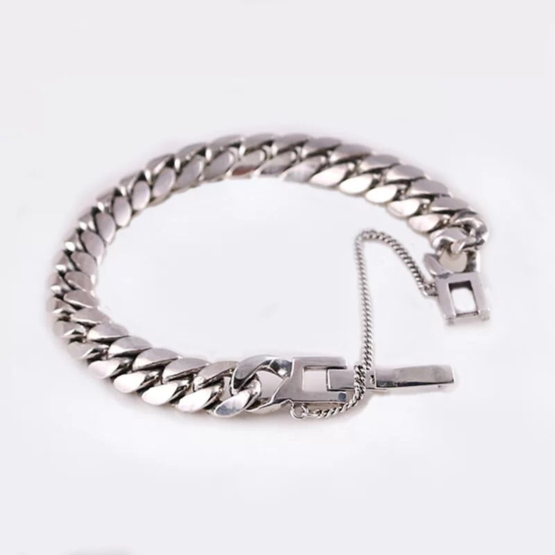 925 silver bracelet with safety chain - Xingjewelry