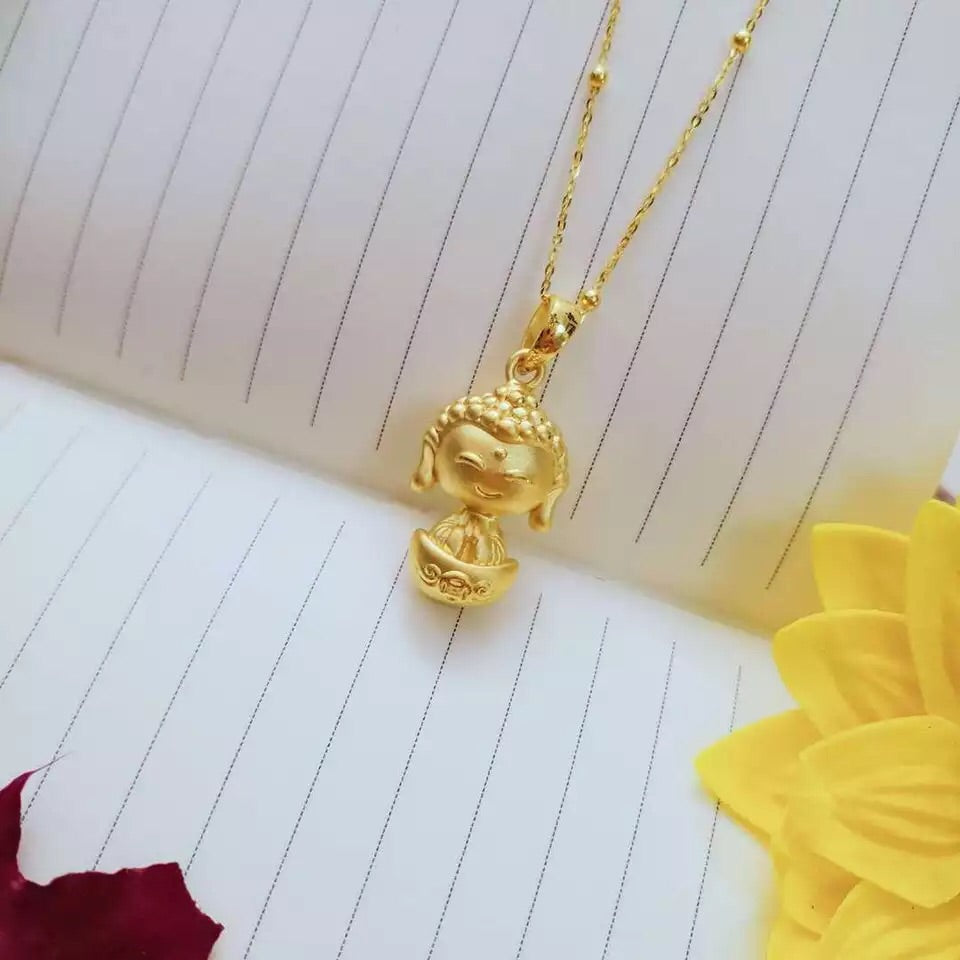 18k gold buddha pendant necklace - Xingjewelry