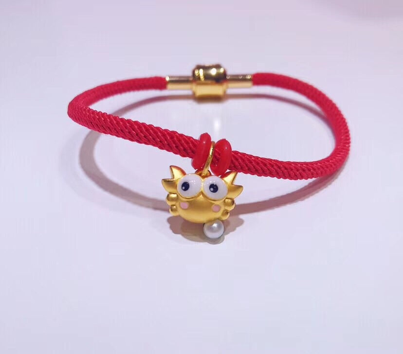 18 k gold crab pendant for bracelet & necklace - Xingjewelry