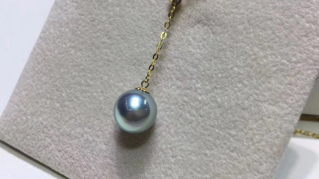 18k gold akoya pearl bead necklace - Xingjewelry