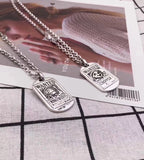 925 sterling silver monkey D luffy tag pendant necklace - Xingjewelry