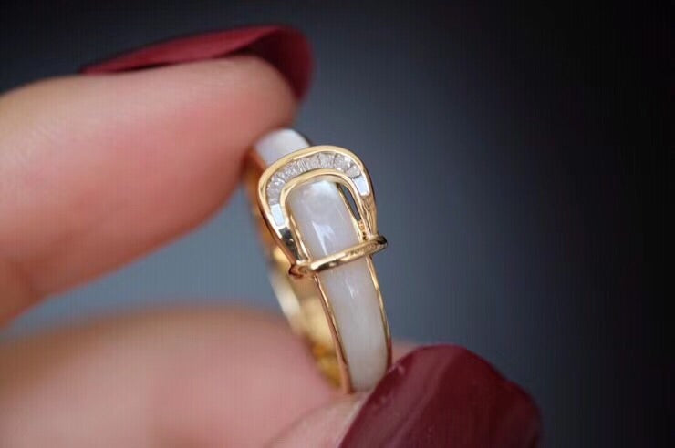 18k gold white opal fairytale ring - Xingjewelry